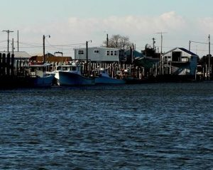 The working waterfront at Bowers Beach in Kent County