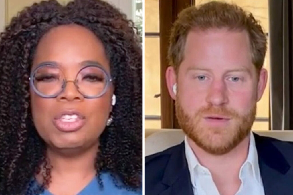 Oprah says EVERYONE is on a 'spectrum' of mental health fitness after bombshell Prince Harry interview