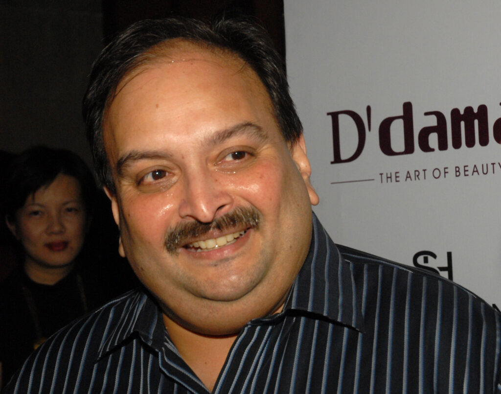 Choksi is wanted by Indian authorities
