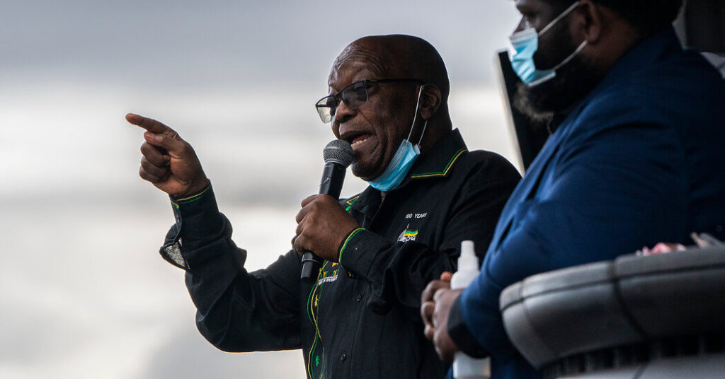 Jacob Zuma of South Africa Is Granted Medical Parole